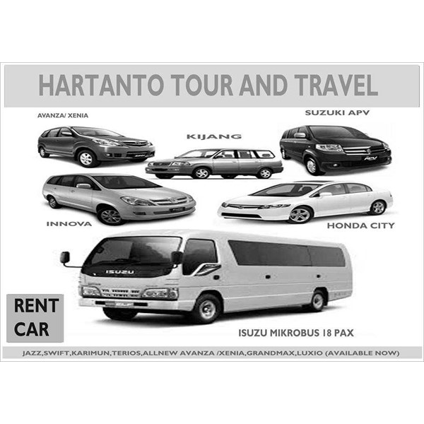 rental mobil manual / matic with driver