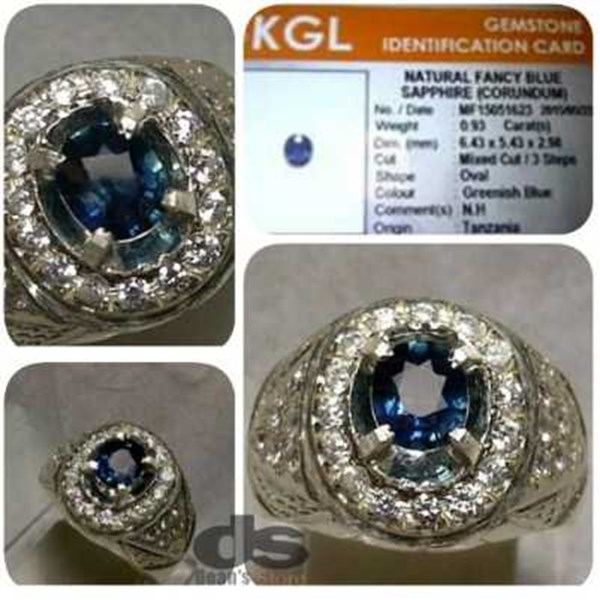 natural fancy blue sapphire corundum, top luster, memo kgl-2