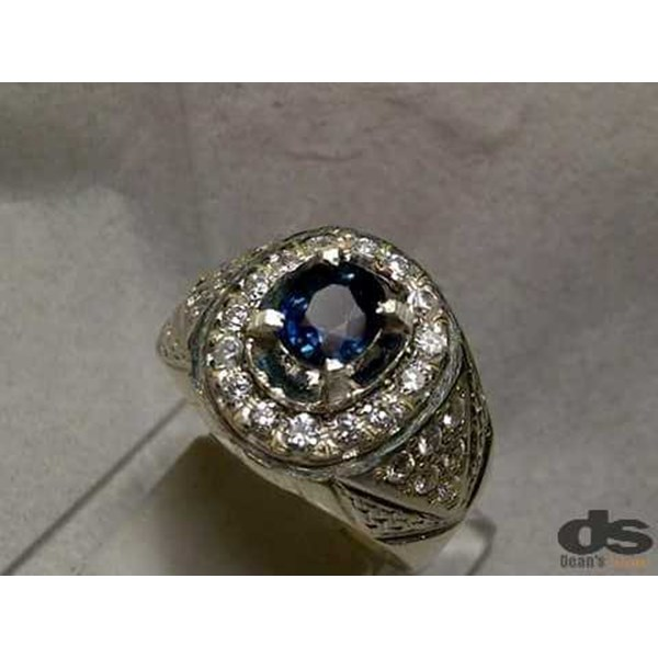 natural fancy blue sapphire corundum, top luster, memo kgl