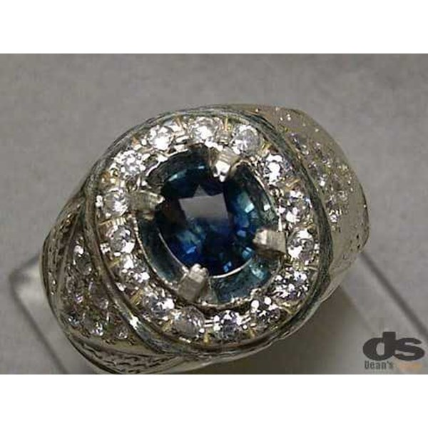 natural fancy blue sapphire corundum, top luster, memo kgl-1