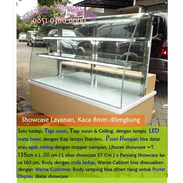showcase, etalase, donut, roti, kue, snack, makanan, roti, cake, food display, bakery display, rak roti, etalase bakery, etalase, cake display-2