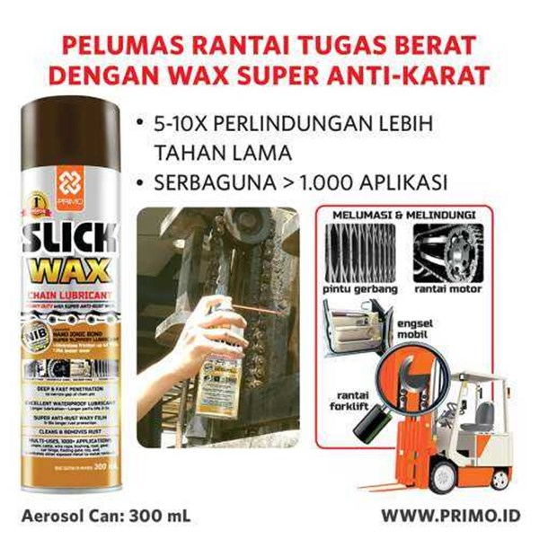 pelumas rantai & wax chain lube primo slick wax 300 ml-3