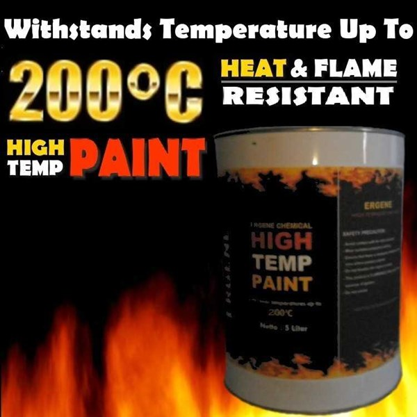 cat tahan panas 200 derajat - high temperature - heat resistant paint-1