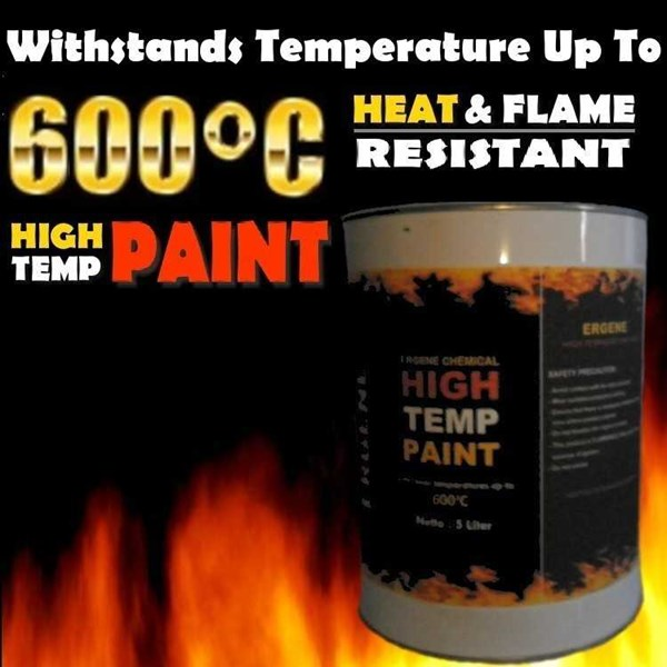cat tahan panas 600 derajat - high temperature - heat resistant paint-1
