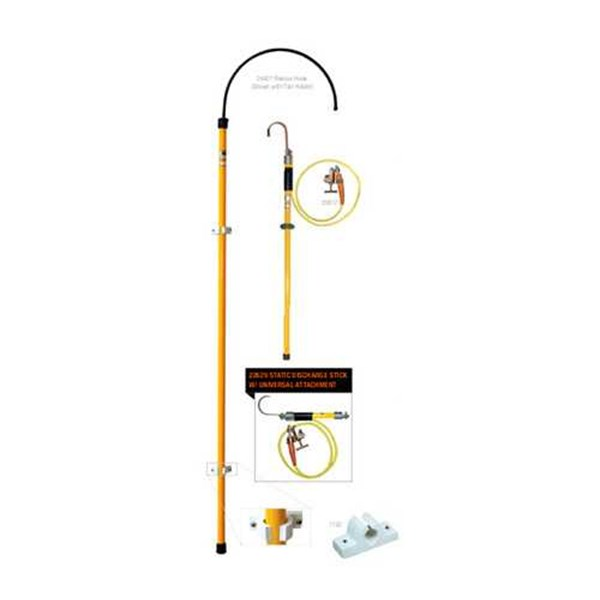 insulated rescue hook and static discharge stick - salisbury s