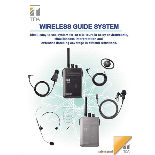 toa wireless interpreter / tour guide & listening system