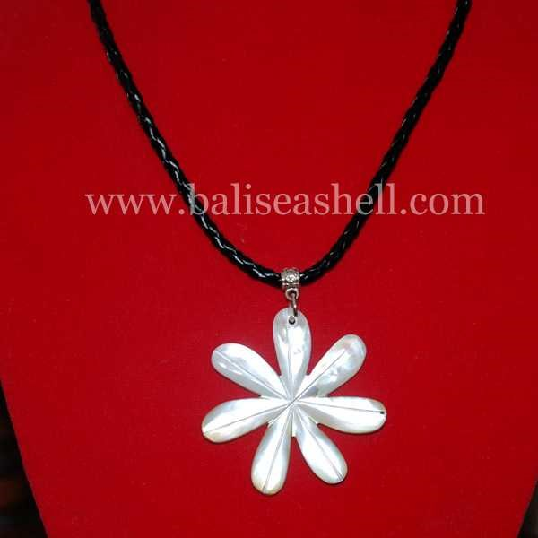 flower art necklace bead / kalung ukir bunga-1