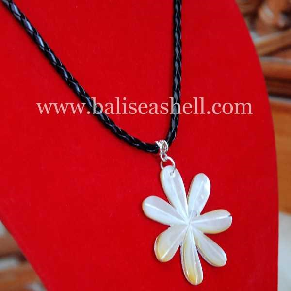 flower art necklace bead / kalung ukir bunga-2
