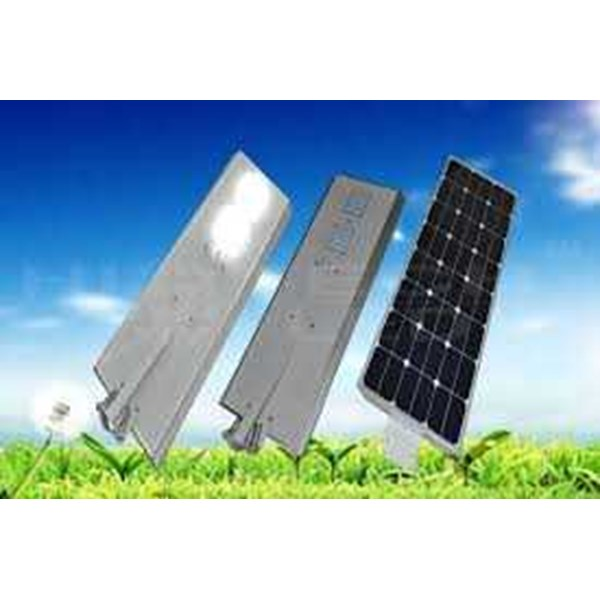 integrated solar street light 50 watt murah manado & makasar