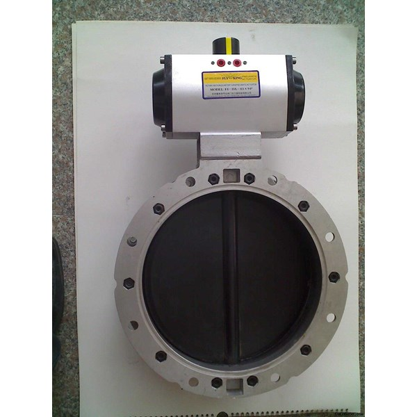 valtorque pneumatic double acting with butterfly valve-3