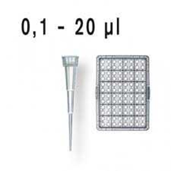life science pipette tips, racked