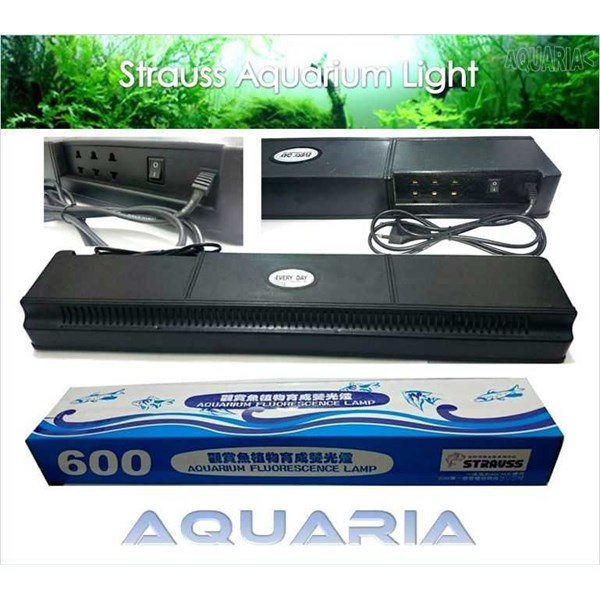 lampu akuarium set strauss 600 strauss 600 compact aquarium lamp set-3