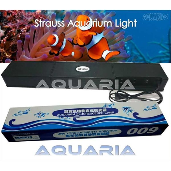 lampu akuarium set strauss 600 strauss 600 compact aquarium lamp set