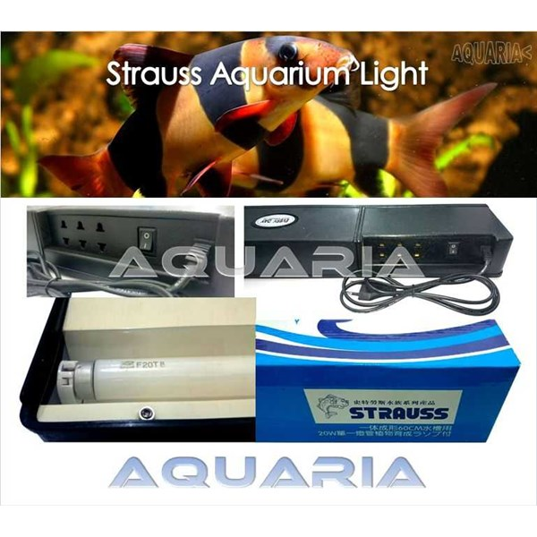lampu akuarium set strauss 600 strauss 600 compact aquarium lamp set-1