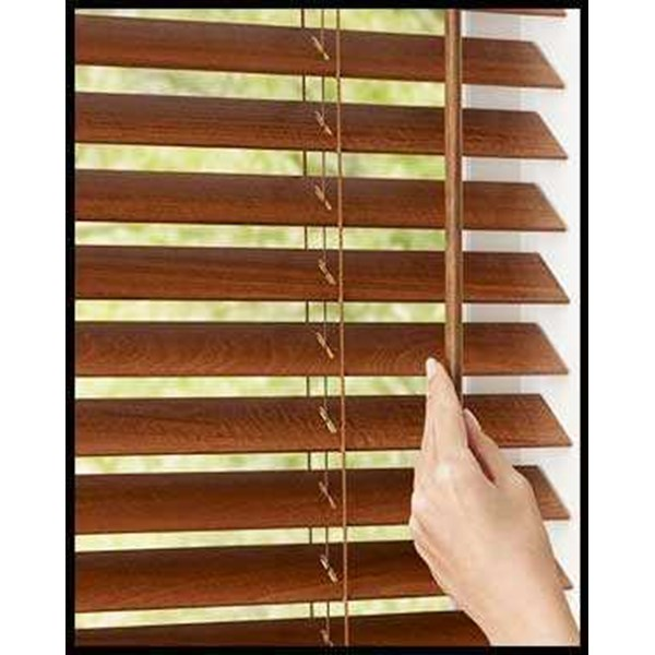 wooden blinds, krey kayu, tirai kayu