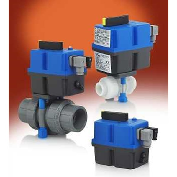 ball valve with motorized actuator-1