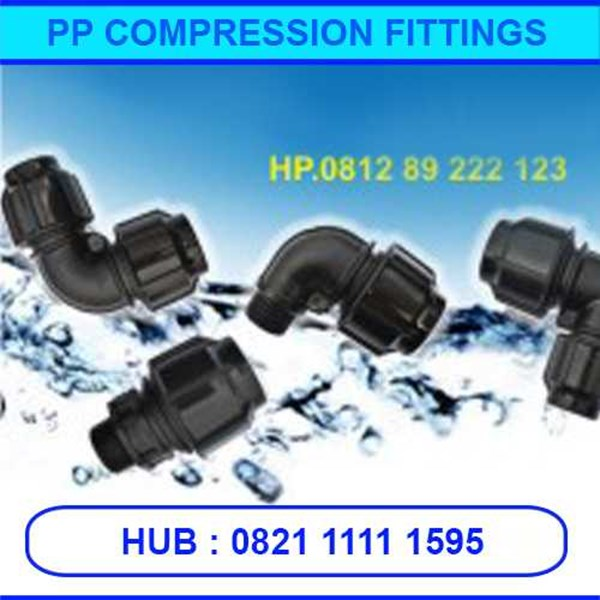 fitting pipa hdpe, pp compression, dll-5