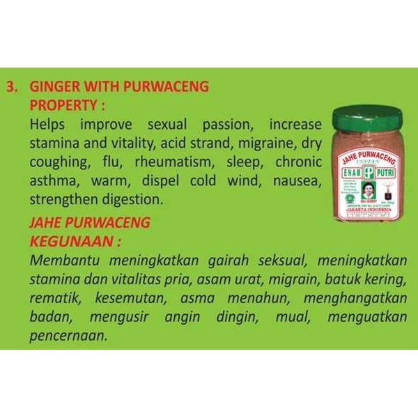 ginger with purwceng-jahe purwaceng