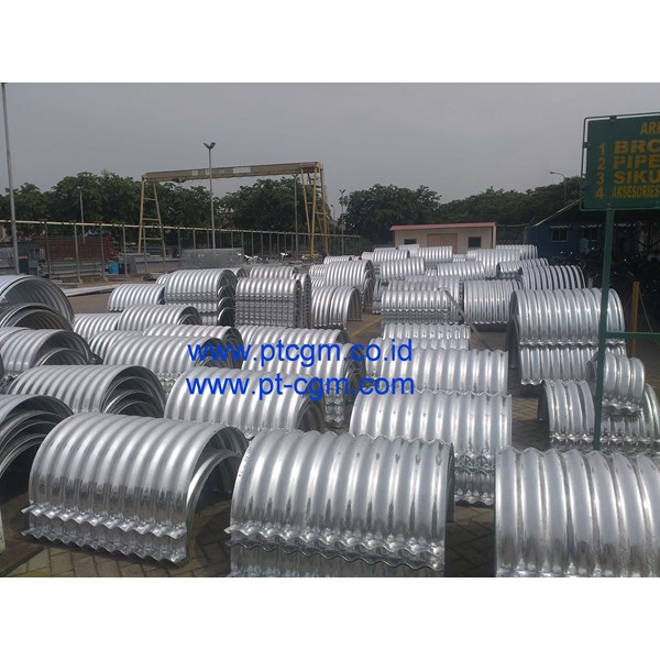 corrugated steel pipe armco nestable flange e-100-4