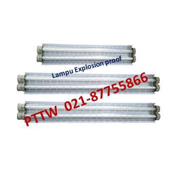 explosion proof lighting tl 2 x 36 watt distributor fpfb indonesia