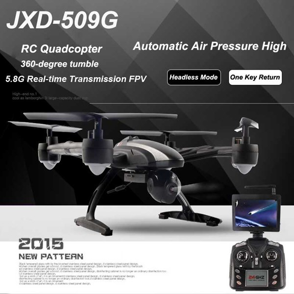 jxd 509g jinxingda rc quadcopter fpv 5.8g with 2 mp hd camera