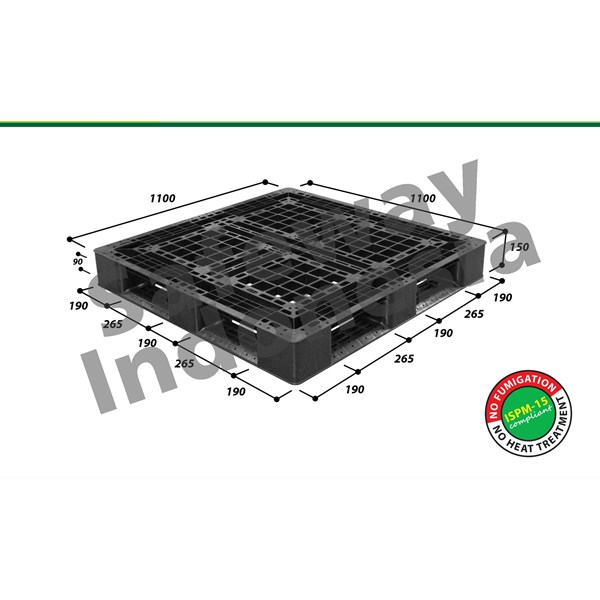pallet plastik one-way series n4-1111sl2 safeway