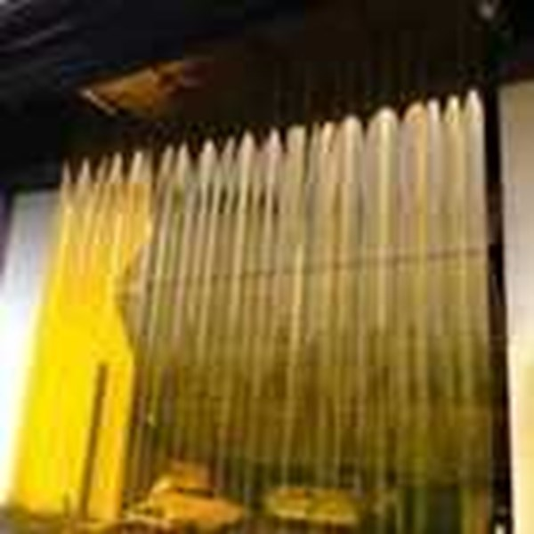 pvc curtain yellow -1