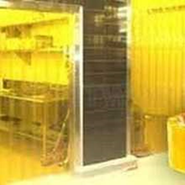 pvc curtain yellow -3