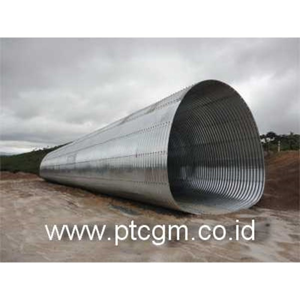 corrugated steel pipe armco multi plate pipe arches-2