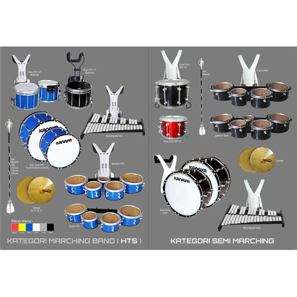 kanaya drum band : jual perlengkapan alat drum band & marching band-1