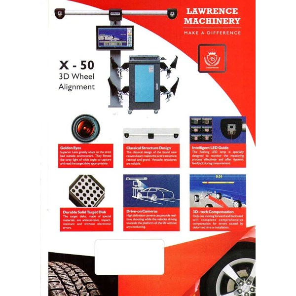 spooring / wheel alignment 3 d lawrence x-50