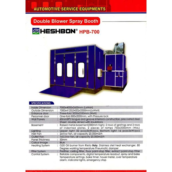 double blower heshbon hpb-700 (oven cat mobil)-1