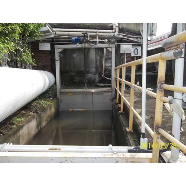 electric and manual sluice gate