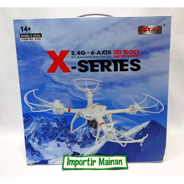 mjx x101 + camera c4008 fpv hd real time/rc drone 2,4ghz 6axis-1