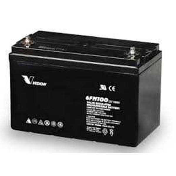 jual battery vision vrla, agm 12v 100ah