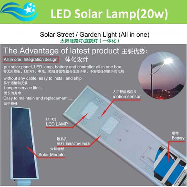pju 40 watt all in one system, solar cell lampu pju all in one system-2