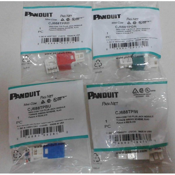 modular jack panduit pan-net (cj588t* & cj688t*)