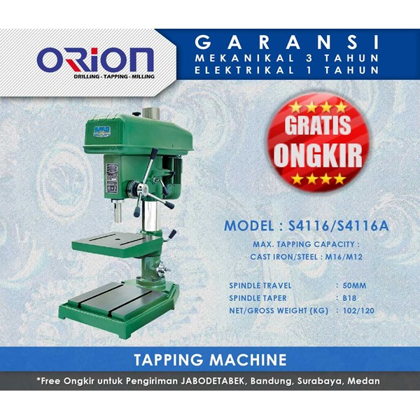 orion tapping machine-s4116/s4116a
