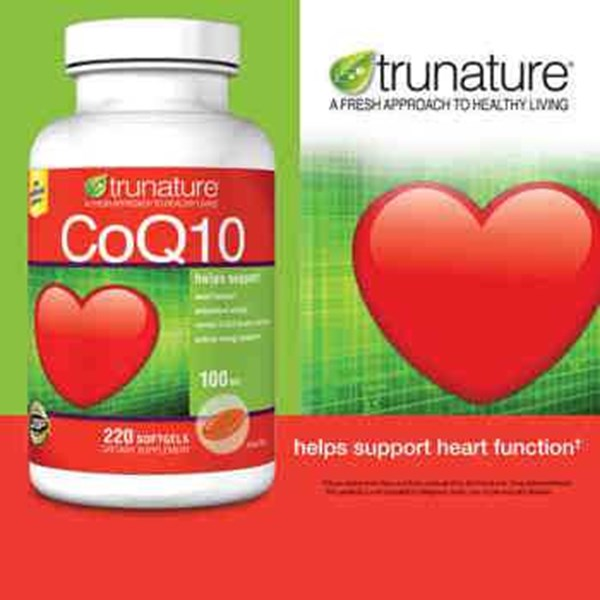 trunature coq10 100 mg., 220 softgels.-2