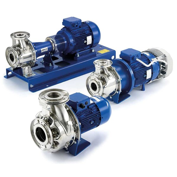 lowara e-sh stainless steel 316 end suction pumps