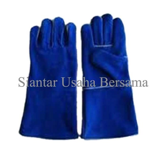 jual safety gloves welding leather pelipit 16