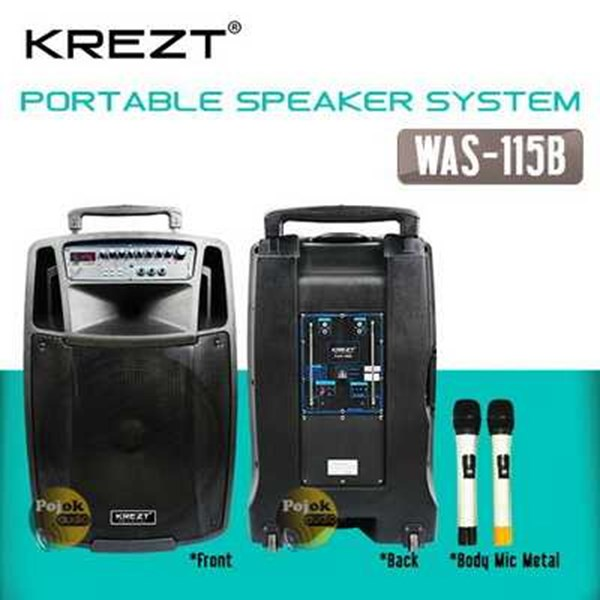 krezt was 115 hh - usb bluetooth speaker wireless portable-7