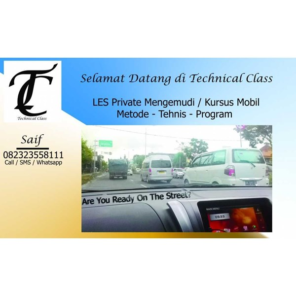 les private mengemudi - kursus mobil - technical class