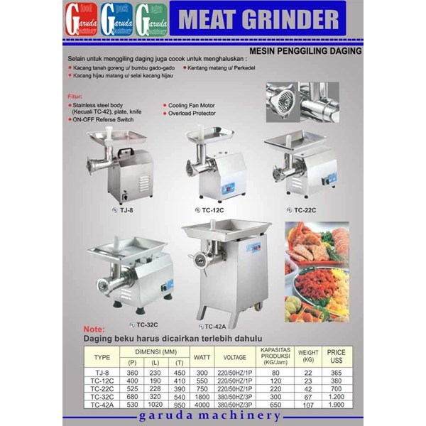 mesin giling daging - meat grinder-1