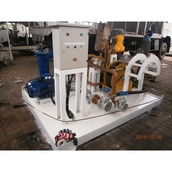 fuel suction & dispensing module on skid fuel station-6