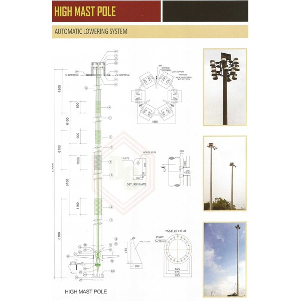 highmast pole automatic lowering system
