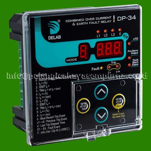 delab dp-34 combined over current & earth fault relay-1