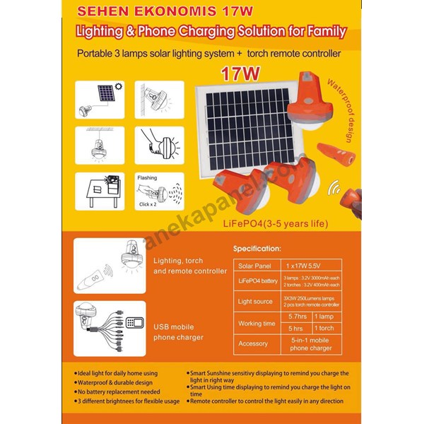 shs lampu sehen 15 - 20 wp solar cell-1