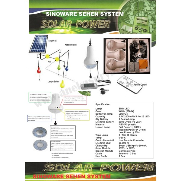 shs lampu sehen 15 - 20 wp solar cell-2