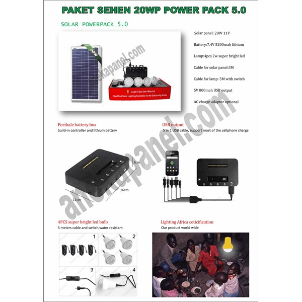 shs lampu sehen 15 - 20 wp solar cell
